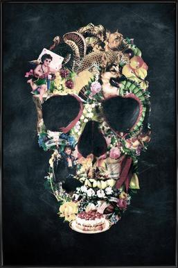 Vintage Skull ingelijste poster