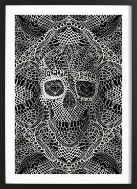 Lace Skull Framed Print