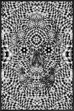 Skull 7 ingelijste poster