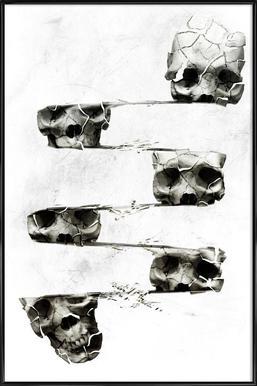 Skull III ingelijste poster
