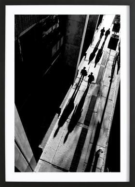 Queen Street - Jian Wang - Poster in houten lijst