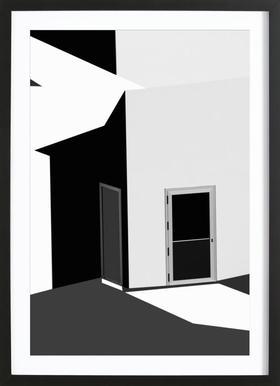 Closed doors - Olavo Azevedo - Poster im Holzrahmen