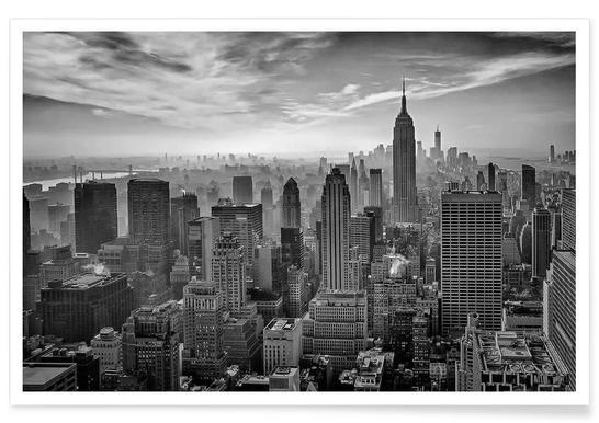 Hazy Gotham - Stefan Schilbe - Premium Poster