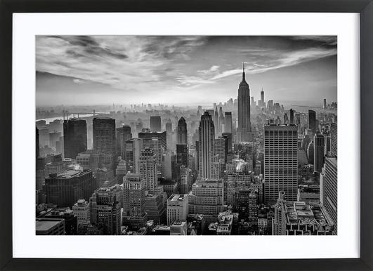 Hazy Gotham - Stefan Schilbe - Poster in houten lijst