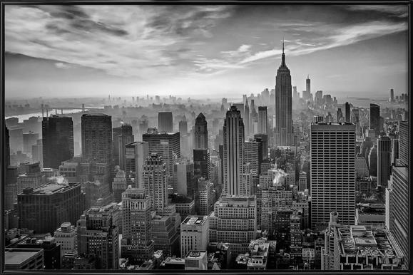 Hazy Gotham - Stefan Schilbe - Poster in Standard Frame