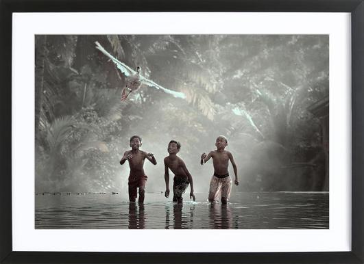 Airborne!!! - Vichaya Framed Print