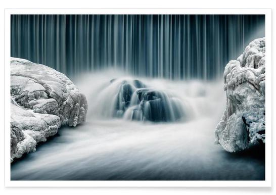 Icy Falls - Keijo Savolainen Poster