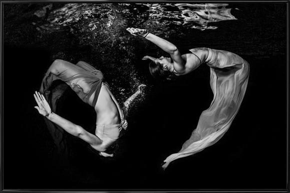 Grace Underwater - Ken Kiefer Framed Poster