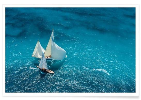 Croisement bleu - Marc Pelissier affiche