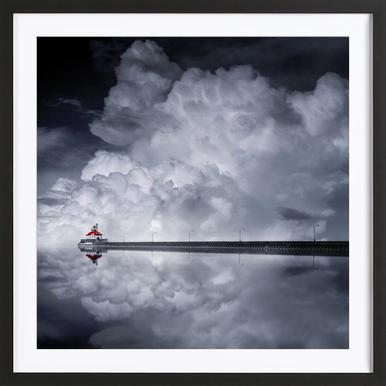 Cloud Desending - Like He ingelijste print
