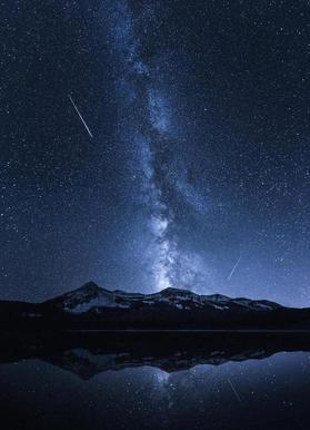 Galaxies Reflection - Toby Harriman -Leinwandbild
