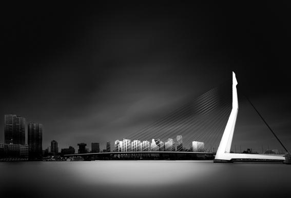 Erasmus Bridge - Denis Impression sur alu-Dibond
