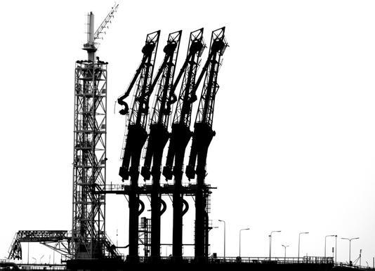 Rotterdam Harbour - Jan Nietzen toile
