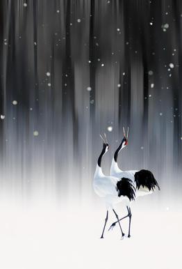 Happy New Year - Ikuo Iga tableau en verre