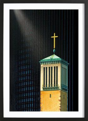 The Light Beam - Anette Ohlendorf affiche sous cadre en bois