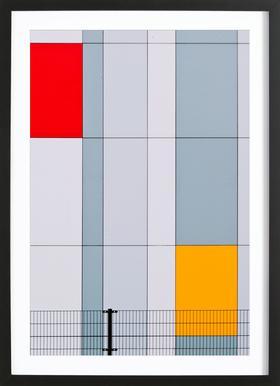 Mondriaan? - Henk Van Maastricht Framed Print