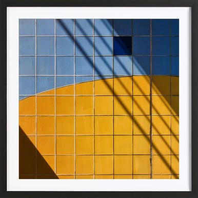 Square-\-Shadow - Henk Van Maastricht -Bild mit Holzrahmen