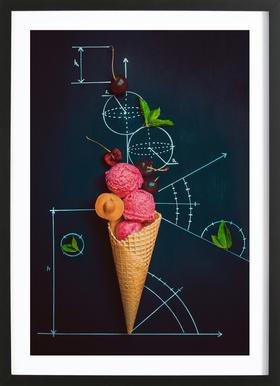 Summer Homework - Dina Belenko -Bild mit Holzrahmen