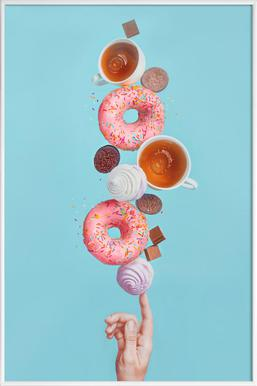 Weekend Donuts - Dina Belenko - Poster im Kunststoffrahmen