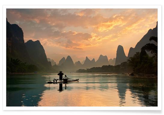 Golden Li River - Yan Zhang Poster