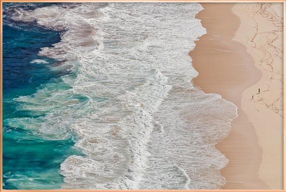 Where the Ocean Ends... - Andreas Feldtkeller Poster in Aluminium Frame