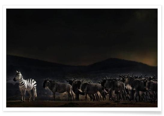 An Evening in Kenya - Piet Flour Poster