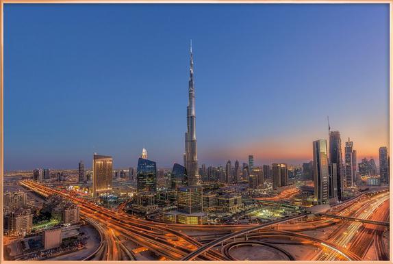 The Amazing Burj Khalifah poster in aluminium lijst