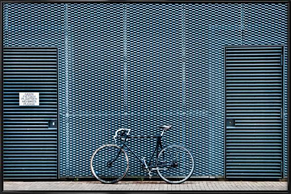 No Bikes Please ingelijste poster