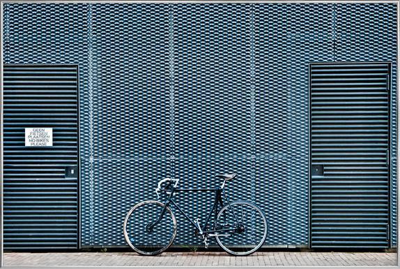 No Bikes Please poster in aluminium lijst