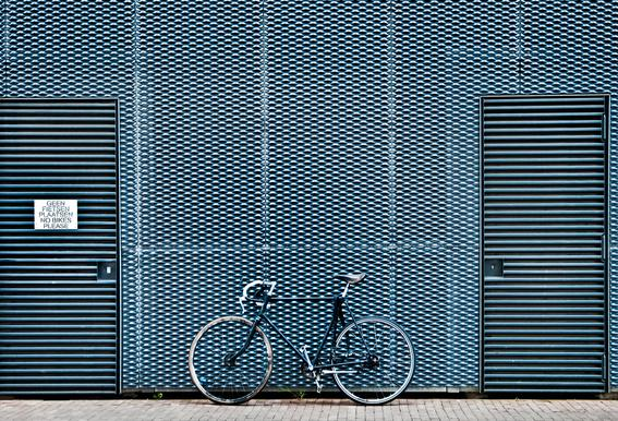 No Bikes Please alu dibond
