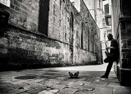 Silent Street canvas doek