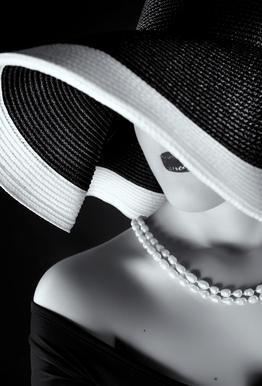La femme au chapeau Aluminium Print