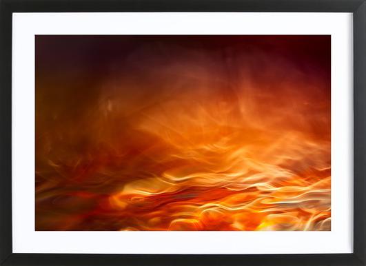 Burning Water Framed Print