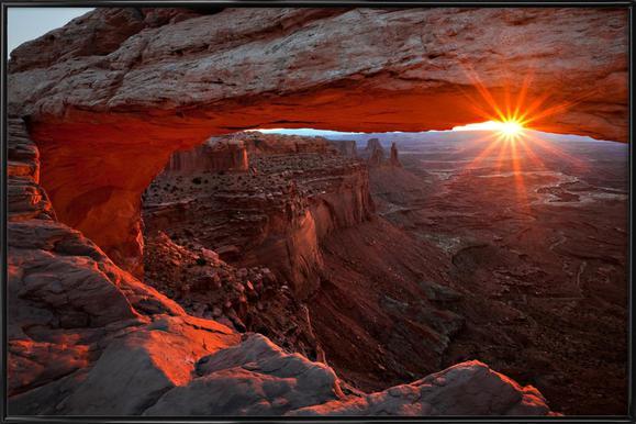 Mesa Arch Sunrise - BarbaraRead Framed Poster