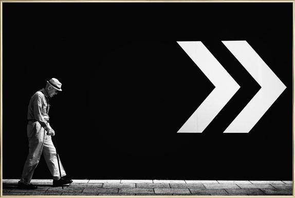 Untitled - Tatsuo Suzuki affiche sous cadre en aluminium