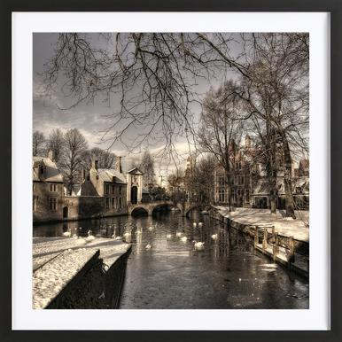 Bruges in Christmas Dress - Yvette Depaepe ingelijste print