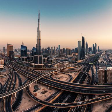 Dubai Skyline Panorama - Jean Claude Castor Canvas Print