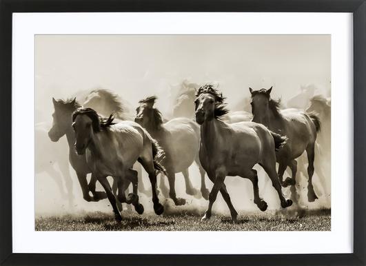 Horse - Heidi Bartsch affiche sous cadre en bois