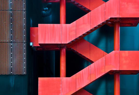 Red Route - Linda Wride Aluminium Print