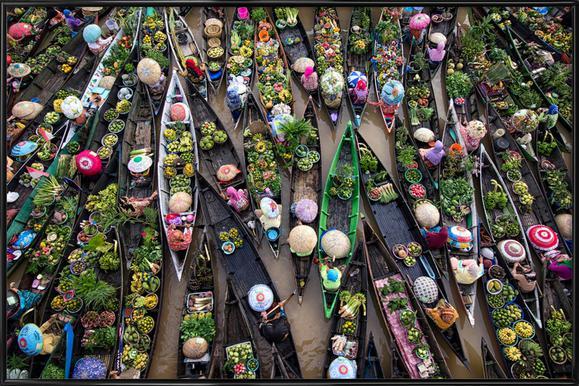 Pasar Terapung - Insan Kamil ingelijste poster