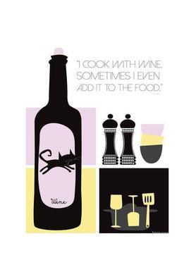 I Cook With Wine -Leinwandbild