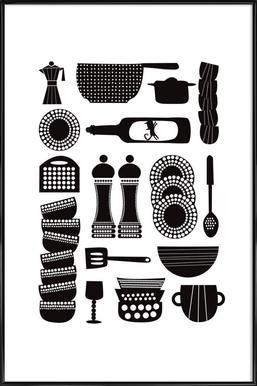 Kitchen Tools ingelijste poster