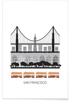 San Francisco - minimalistisch poster