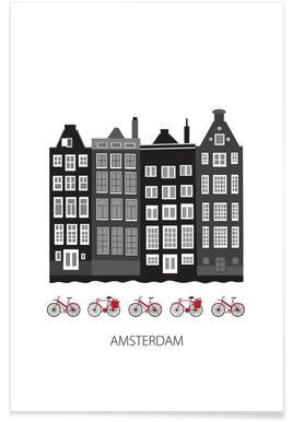 Amsterdam - minimalistisch poster