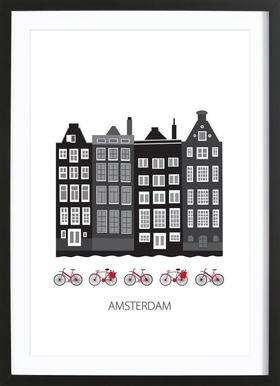 Amsterdam City Framed Print