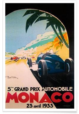 Grandprix Automobile Monaco 1933 poster