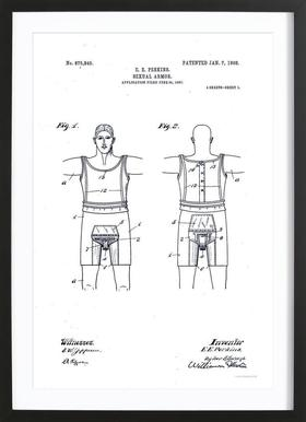 Sexual Armor To Stop Masturbation And Insanity, Patent 1908 Framed Print