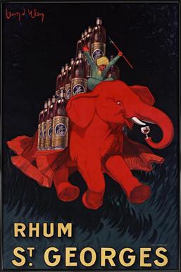 Rhum St Georges ingelijste poster