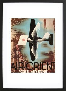 Air Orient Dove -Bild mit Holzrahmen