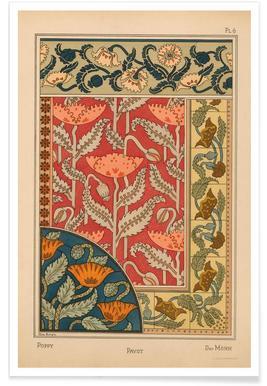 Eugene Grasset - Poppy 06 -Poster